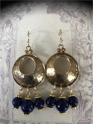 Earrings - Lapis Lazuli & Gold Vermeil  #8661, 2020