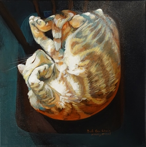 Mango (My Daughter's Cat) by Kathy Hisel