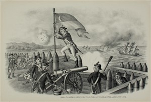 Sargt. Jasper Recovers The Flag At Charleston, June 28, 1776, c1890
