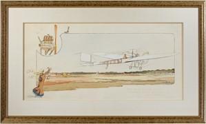 Prix de la Nature (100 Kil) E. Dubonnet le Gagnant Sur Monoplan Tellier Moteur Panhard, 1910