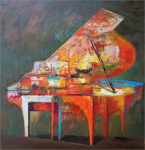 Piano Series Small Orange
