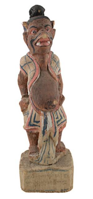Wooden figure, 19th Century