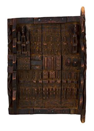 Dogon Grainery Door- Mali, c.1920
