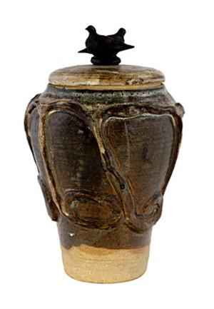 Cover Jar w/2 Birds, 1997