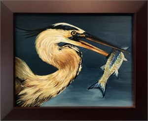 Heron and Fish 2