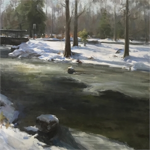 Bear Swamp Brook Winter by Kyle Ma