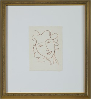 Head of Woman - Relaxed (From: Florilege des Amours de Ronsard Portfolio), 2007