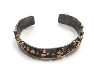 Bracelet - Sterling Silver Narrow Cuff w/ Gold Alloy #2, 2019