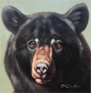 Black Bear On Mint Green (2/25), 2018