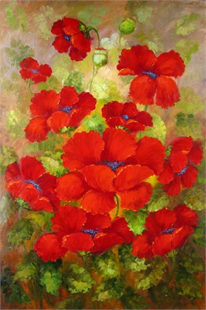 Red Poppies Rose