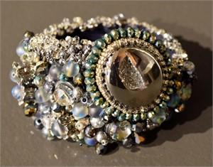 Gray, Blue, and Silver Gem bracelet