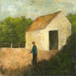 Gate to the Wood by David Brayne R.W.S.