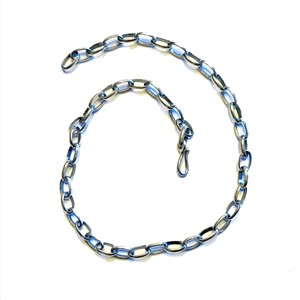 "Necklace - 20"" Large Link Chain, Sterling Silver"