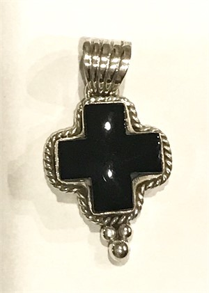 Pendant - Onyx Square Cross - Small, 2019