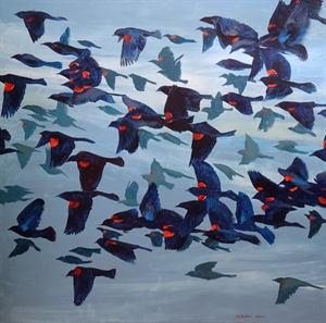 Red Wing Blackbirds by Kathy Hisel