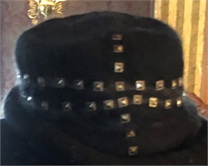 "Black Hat with Studs ""S/M"""