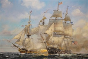 USS Constitution vs HMS Guerriere, 1812, 2018