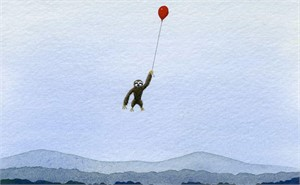 Sloth with Balloon