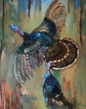 Spooked Turkeys by Dirk Walker