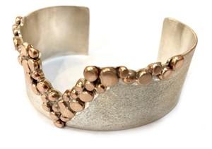 Bracelet - Sterling Silver w/ Gold Alloys Cuff #1, 2019