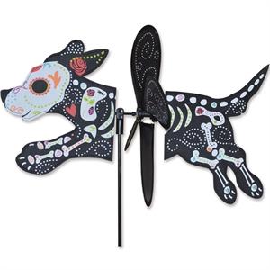 Sugar Skull Dog/Perro Kinetic Wind Spinner