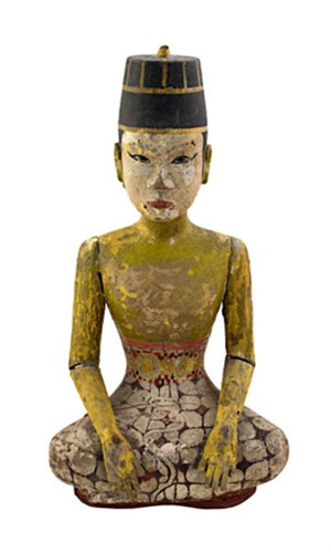 Loro Blonyo 19th Century  Groom Figure (To be sold as pair with 507d), c19th Century