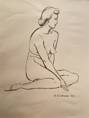 Untitled (Nude Sitting Profile), 1955