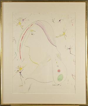 Head of Woman w/ Stars, 1965