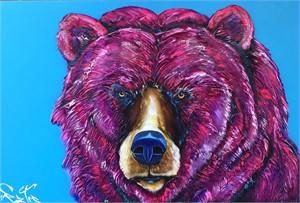 Magenta Bear 184498