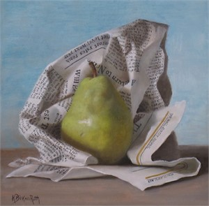 Wrapped Pear, 2018