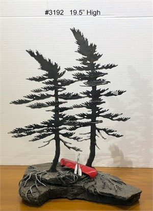 2-Windswept Pines with Canoe #3192