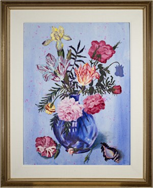 Assortment of Flowers in Blue Vase, 2003