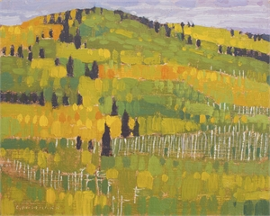 Autumn Hill Patches by David Grossmann