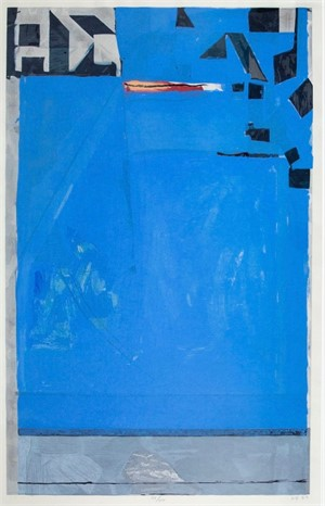 Blue with Red (1/1), 1987