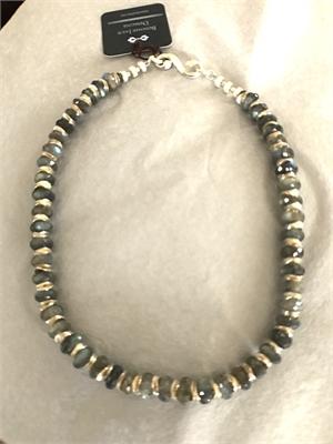 Necklace - Labradorite & Sterling Silver  #8675, 2020
