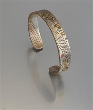 Cuff - Mokume Gane, Silver, Copper, Brass - ADC 103, 2019