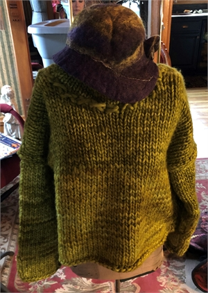 "Green Acres Hand knit Sweater ""S/M"""