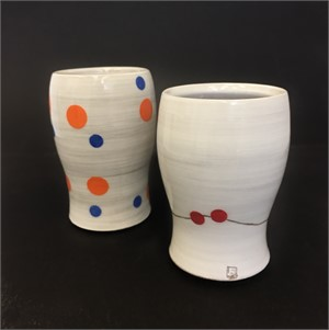 Tall Cups with Dots