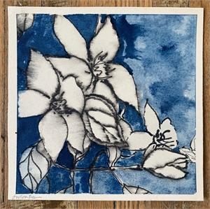 Untiltled Blue Floral, 2019