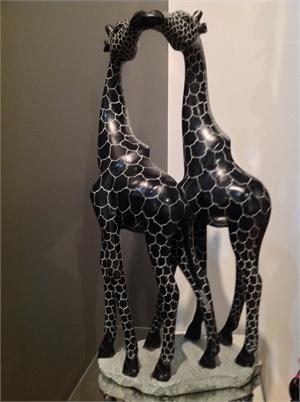 """""""Kissing Giraffes"""" , 2019"""