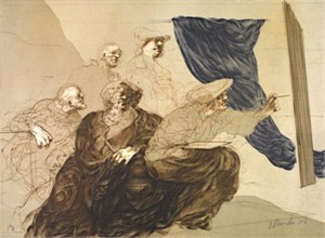 Peintre et Notables, 1973