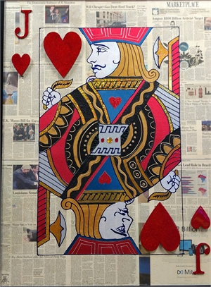 """""""Jack of Hearts"""" Poker Cards On Wall Street Journal, 2017"""