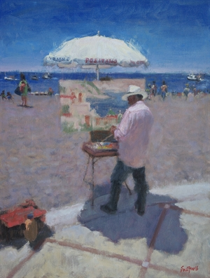 Positano Painter by Sue Foell, opa