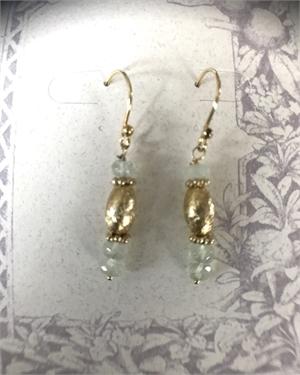 Earrings - Prehnite & Gold Vermeil  #8666, 2020