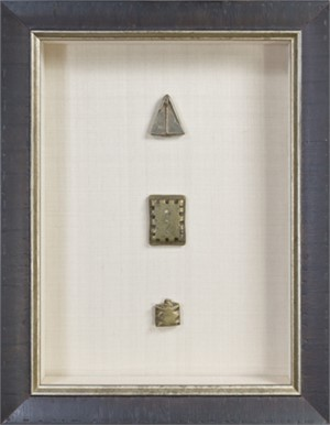 Three Ashanti Gold Weights (1 Notched, 1 Engraved, 1 Barred), 19th c.