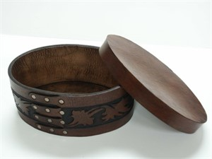 Leather Oval Box, 2011