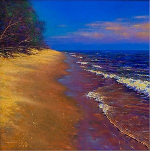 Sun On A Beach by Mike Barret Kolasinski