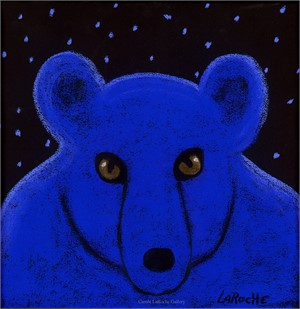 "BABY BLUE - limited edition giclee on canvas 20""x20"" or on paper w/frame size of 25""x25"""