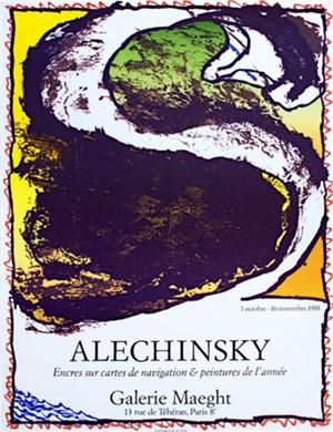 Encres sur cartes de navigation & peintures de l'annee, 1981