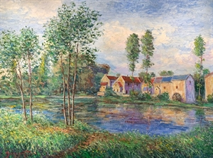 The Mill on the Loing River by James Scoppettone
